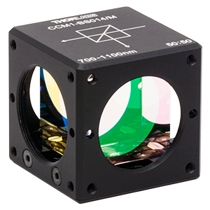 CCM1-BS014/M - 30 mm Cage Cube-Mounted Non-Polarizing Beamsplitter, 700 - 1100 nm, M4 Tap