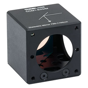 CCM1-E03/M - 30 mm Cage Cube-Mounted E03 Dielectric Turning Mirror, 750-1100 nm, M4 Tap