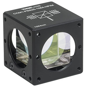 CCM1-PBS25-1064-HP/M - 30 mm Cage-Cube-Mounted, High-Power, Polarizing Beamsplitter Cube, 1064 nm, M4 Tap
