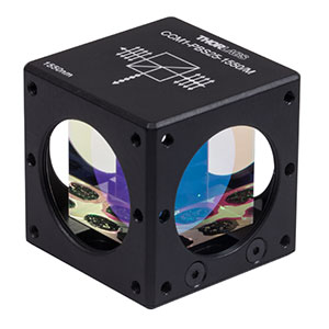 CCM1-PBS25-1550/M - 30 mm Cage-Cube-Mounted Polarizing Beamsplitter Cube, 1550 nm, M4 Tap