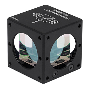 CCM1-PBS25-980/M - 30 mm Cage-Cube-Mounted Polarizing Beamsplitter Cube, 980 nm, M4 Tap