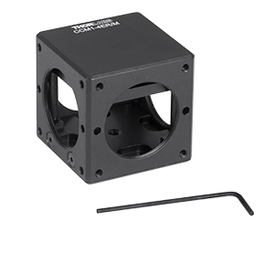 CCM1-4ER/M - Compact Clamping 4-Port Prism/Mirror 30 mm Cage Cube, M4 Tap