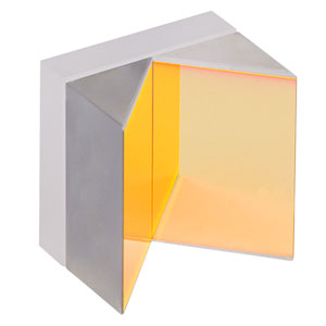 HRS1015-M01 - 1in x 1in Hollow Roof Prism Mirror, Protected Gold