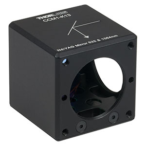 CCM1-K13 - 30 mm Cage-Cube-Mounted Nd:YAG Turning Mirror, 532 and 1064 nm, 8-32 Tap