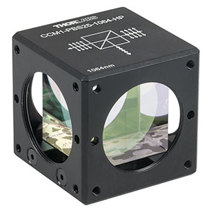 CCM1-PBS25-1064-HP - 30 mm Cage-Cube-Mounted, High-Power, Polarizing Beamsplitter Cube, 1064 nm, 8-32 Tap