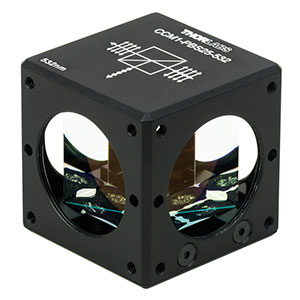 CCM1-PBS25-532 - 30 mm Cage-Cube-Mounted Polarizing Beamsplitter Cube, 532 nm, 8-32 Tap