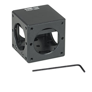 CCM1-4ER - Compact Clamping 4-Port Prism/Mirror 30 mm Cage Cube, 8-32 Tap