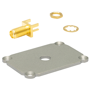 EECEPSMA - End Plate for Customizable Electronics Housing, SMA Connector, 1.25in x 1.75in