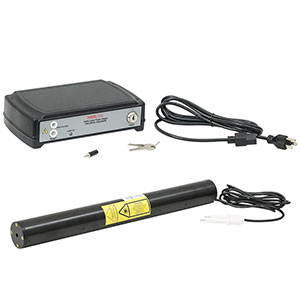 HNL050RB - HeNe Laser, 632.8 nm, 5 mW, Random, 100 - 240 VAC Power Supply Included