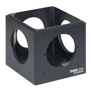 DFM2B/M - Kinematic 60 mm Cage Cube Base, M6 Tapped Holes