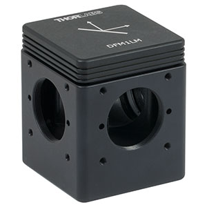 DFM1LM - Kinematic Beam Turning 30 mm Cage Cube for Right-Angle Prism Mirror, Left Turning, 1/4in-20 Tapped Holes