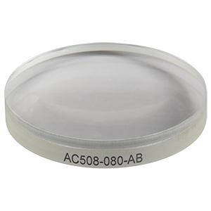 AC508-080-AB - f = 80.0 mm, Ø50.8 mm Achromatic Doublet, ARC: 400 - 1100 nm
