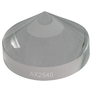 AX2540 - 40.0°, Uncoated UVFS, Ø1in (Ø25.4 mm) Axicon