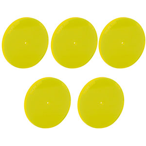 ADF8-P5 - Fluorescent Alignment Disk, Ø1.5 mm Hole, Yellow, 5 Pack