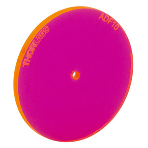 ADF10 - Fluorescent Alignment Disk, Ø1.5 mm Hole, Red