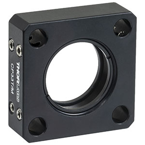 CP33T/M - SM1-Threaded 30 mm Cage Plate, 0.50in Thick, 2 Retaining Rings, M4 Tap