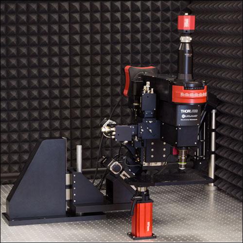 2P Rotating Microscope Encased in Soundbox