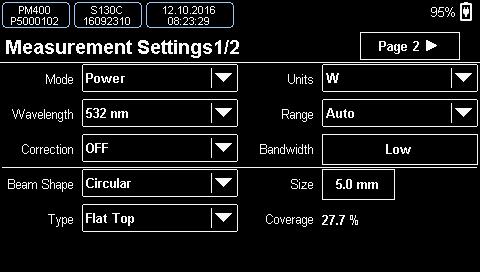 Measurement Settings