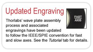 Wave Plate Engraving Update